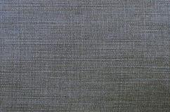 Gedetailleerde textuur van donkere denimdoek Royalty-vrije Stock Foto's