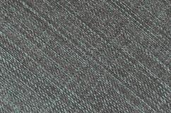 Gedetailleerde textuur van donkere denimdoek Stock Fotografie