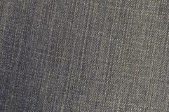 Gedetailleerde textuur van donkere denimdoek Royalty-vrije Stock Afbeelding