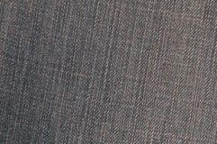 Gedetailleerde textuur van donkere denimdoek Royalty-vrije Stock Foto