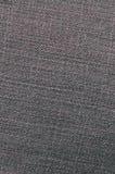 Gedetailleerde textuur van donkere denimdoek Stock Foto's