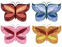 Gedetailleerde vlinderelementen Stock Fotografie