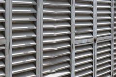 Gedeukt Alluminum-Traliewerk Stock Afbeeldingen
