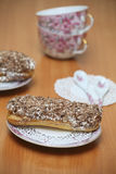 Gediend eclairs Royalty-vrije Stock Foto's