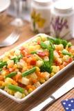 Gediend gehakt groentenmengsel Stock Foto