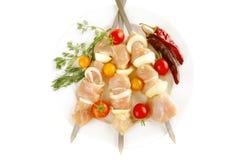 Gediende kip shish kebab royalty-vrije stock foto