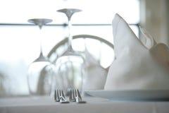 Gediende restaurantlijsten stock fotografie
