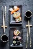 Gediende sushi voor twee royalty-vrije stock afbeelding