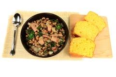 Gediente amerikanische Südtradition neue Jahr-Tagesmahlzeit Lizenzfreies Stockbild