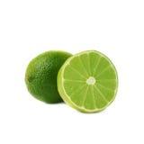 Gediente Kalkfruchtzusammensetzung lokalisiert über Lizenzfreie Stockfotos