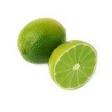 Gediente Kalkfruchtzusammensetzung lokalisiert über Stockfotos