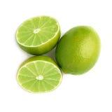 Gediente Kalkfruchtzusammensetzung lokalisiert über Lizenzfreie Stockbilder