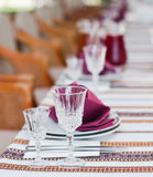 Gediente Tabelle in der ukrainischen Gaststätte Stockbild