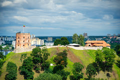 Gediminas塔在维尔纽斯,立陶宛 库存图片