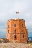 Gediminas塔在维尔纽斯,立陶宛 免版税图库摄影