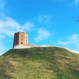 Gediminas塔在维尔纽斯,立陶宛 免版税库存照片