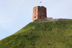 Gediminas,维尔纽斯,立陶宛塔 免版税库存图片