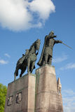 Gediminas纪念碑在维尔纽斯 库存照片
