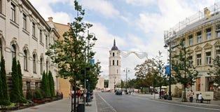 Gediminas-Allee ist die Hauptstraße in Vilnius-Mitte Stockfoto