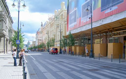 Gediminas Avenue, main street of Vilnius Stock Photos