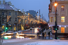 Gediminas Avenue in Vilnius. Lithuania.  royalty free stock photos