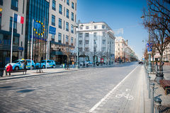 Gediminas Avenue in Vilnius, Lithuania Royalty Free Stock Photography