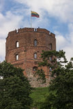 Gediminas castle. Closeup of the famous historical symbol of Vilnius (Lithuania) - medieval Gediminas castle Stock Photo