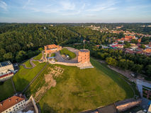 Gediminas Castle Hill in Lithuania, Vilnius Old Town. Gediminas Castle Hill in Lithuania stock photos