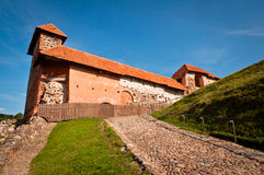 Gediminas Castle. Remains of the Upper Castle on the Gediminas Hill in Vilnius, Lithuania royalty free stock photo