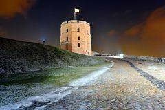 Gediminas Castle Tower on Hill in Vilnius Royalty Free Stock Photo