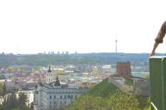 Top view of the main sights of Vilnius Stock Image
