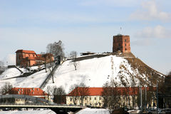 Gediminas Castle in Vilnius Royalty Free Stock Photography