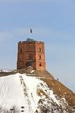 Gediminas Castle in Vilnius Stock Image