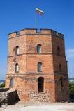 Gediminas Schloss-Kontrollturm in Vilnius Stockfotografie