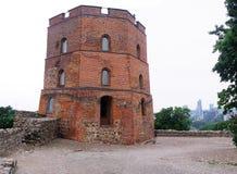 Gediminas Schlosskontrollturm. Stockbilder
