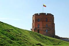 Gediminas slott i den Vilnius staden lithuania Royaltyfri Bild