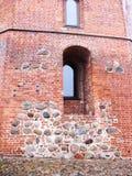 Gediminas` Toren in Vilnius, dichte mening stock foto
