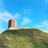 Gediminas torn i Vilnius, Litauen Royaltyfri Foto
