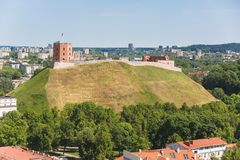 Gediminas tower. Beautiful Gediminas tower in Vilnius, Lithuania stock photo