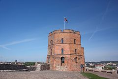 Gediminas Tower on Castle Hill in Vilnius Royalty Free Stock Photos