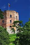 Gediminas Tower is the remaining part Upper Castle Stock Photography