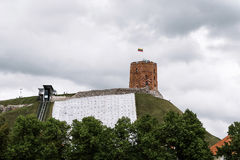 gediminas vilnius de château Photos stock