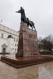 Gedimino monument in Vilnius city center Royalty Free Stock Image