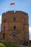 Gedimino slott i Vilnius, Litauen Arkivbild