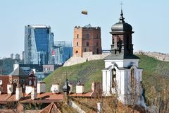 Gedimino Tower in Vilnius royalty free stock photography