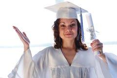 Gediplomeerd diploma Royalty-vrije Stock Foto's