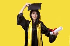 Gediplomeerd meisje royalty-vrije stock foto