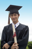 Gediplomeerd studentenhoogtepunt van vertrouwen Royalty-vrije Stock Foto