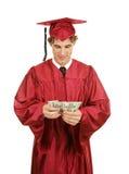 Gediplomeerd Tellend Geld stock afbeelding