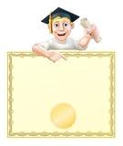 Gediplomeerde en diploma Royalty-vrije Stock Afbeelding